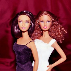 Baccara (farmspeedracer) Tags: doll toy barbie collector black white music women woman 1970s vintage retro pop duo song baccara