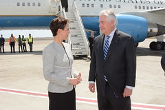 Secretary Tillerson is Greeted by Jamaican Foreign Minister Smith Upon Arrival in Kingston (U.S. Department of State) Tags: kingston jamaica rextillerson