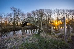 Bridge over the River Thames (gopper) Tags: lechlade gloucestershire oxfordshire river thames riverthames path sunrise scenery scenic water bridge nikon d7100 ngc sigma 1020mm awesome tree trees post gate wooden wood golden blue swindon publicfootpath