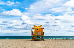 Miami Beach Lifeguard Tower - 3rd Street (Wits End Photography) Tags: daybreak daylight sunup color morn am multicolored nautical shore colorful colors seaside firstlight sand seashore dawn early sea morning cloudy beach ocean lifeguard sunrise coastal water architecture clouds miami coastline light sky marine maritime instagram