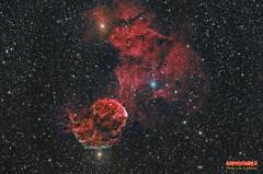 IC443-LHOIIIRGB (Maurizio Cabibbo) Tags: telescope stars astronomy astrophotography night skynight space science deepsky nebula long exposure