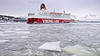 The ferry Mariella arriving in Stockholm (Franz Airiman) Tags: vinter winter snö snow is ice cold kallt minusgrader stockholm sweden scandinavia ferry färja mariella msmariella vikingline båt boat ship fartyg svindersviksbron svindersvikbridge
