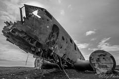 Eternity lying on shores (CsiziPhoto) Tags: plane aeroplane tokina ultrawide iceland d5200 11mm solheimasandur wreck planewreck monochrome sunshine composition imperfection f28
