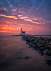 Lighthouse sunrise (reinaroundtheglobe) Tags: sunrise landscape dutch dutchlandscape lighthouse marken hetpaardvanmarken nederland holland noordholland thenetherlands netherlands water lake markermeer skycolorful