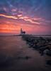 Lighthouse sunrise (reinaroundtheglobe) Tags: sunrise landscape dutch dutchlandscape lighthouse marken hetpaardvanmarken nederland holland noordholland thenetherlands netherlands water lake markermeer skycolorful
