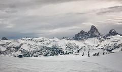 View of Tetons from Grand Targhee_Panorama3 (maryannenelson) Tags: wyoming tetons grandtarghee landscape winter peaks mountains ski snowboard snow panorama tree mountain
