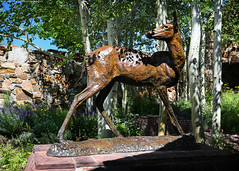 The Sculpture Garden at the National Museum of Wildlife Art (Jeff_B.) Tags: wyoming yellowstone jackson jacksonhole grandteton nationalpark america usa statue sculpture art museum garden nature wildlife sculpturegarden