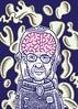 Creepy aliens (Don Moyer) Tags: selfportrait ink drawing sketchbook moyer donmoyer brushpen brain alien illustration