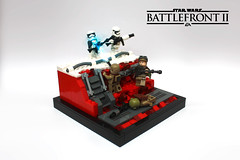 Galactic Assault on Crait (darth85) Tags: crait starwars star wars stormtrooper resistance lego moc specialist assault heavy trench battlefront