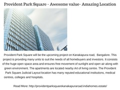 Provident Park Square (hegdeayush) Tags: provident park square judicial layout bangalore housing limited price