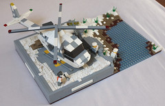 GBW Campaign 5 - Riverside Extraction Team (spud_the_viking) Tags: gbw lego helicopter military snow build mountain river helipad ice stream army