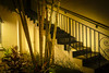 Antique District, Orlando, FL: Stairway to Nowhere (rocinante11) Tags: orlando florida stairs stairway night light ambient ambientlight lumixgx8