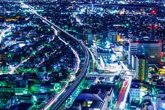 Night view from Gifu City Tower 43 (稲垣一志) Tags: 夜景 街並み 展望室 岐阜シティ・タワー43 西側 大垣市 濃尾平野 岐阜市 岐阜県 日本 nightview nightscape townscape observationroom gifucitytower43 westside ogakicity nohbiplain gifucity gifupref japan