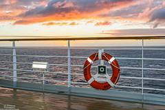 Sunrise aboard (Malte Kopfer Photography) Tags: costadiadema costa costacrociere mediterraneansea mediterranean sunrise sonnenaufgang aboard onboard cruise cruiseship kreuzfahrt rettungsring deck mittelmeer