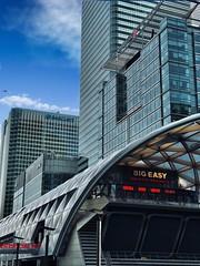 (yeezusr96) Tags: clouds blue sky skyscrapers canarywharf london