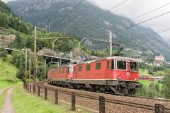 SBB Re 4/4 II 11329 & unknown Re 6/6, Wattingen, 27-8-2013 (mch68) Tags: cff electriclocomotive europe ffs rail re44ii re66 sbb schweiz schweizerischebundesbahnen switzerland wattingen zwitserland
