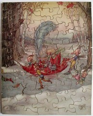 Information please! (pefkosmad) Tags: jigsaw puzzle vintage fairies elves sprites plywood wood haroldgaze fantasy chadvalley interlocking box informationwanted 8x6 chadvalleyco byappointmenttoymakerstohmthequeen 1930s