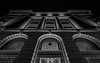 Old Montreal Post Office - Remastered old Photos (Irrational Photography) Tags: black white grey scale greyscale architecture up ceiling look looking tilt light cloud glass rectangle support window sky skylight bw monochrome atrium symmetry building structure line indoor outdoor montreal quebec city canada canon slr dslr t2i 550d kiss 5d mark digital photo picture lens night dusk dark noise grain iso high contrast shadow street walk walking photography irrational