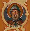 Sts. Cyril and Methodius Saint with Green Hood (Jay Costello) Tags: stscyrilandmethodiusukrainiancatholicchurch stscyrilandmethodius ukrainiancatholic ukrainian catholic church god worship religion architecture ontario canada on ca stcatharineson stcatharines saint medallion tan