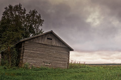 Dramatic Clouds Over The Barn House (k009034) Tags: 500px autumn field sky landscape nature window clouds old architecture tree building fall birch fields abandoned pasture weather agriculture barn farm shed wooden hay scenery rural scene farming dramatic farmhouse bad condition agricultural finland scandinavia oulainen matkaniva teamcanon