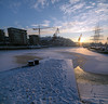 (LLOVGREEN) Tags: sunshine sun sunset settingsun setting sundown sunlight turku åbo suomi finland snow snowy winter january aurajoki river riverside aurariver riveraura varsinaissuomi wärtsilä golden hour goldenhour frost frosty turun ice icy panorama panoramic