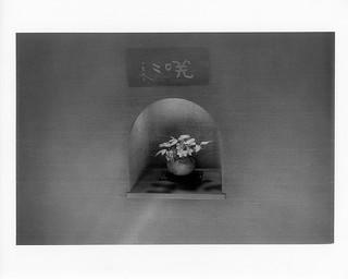 kebana in the niche at Kagizen, Kyoto  鍵善良房壁龕的生花