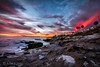 San Diego January Evening (xxKnuckles) Tags: lajolla beach sandiego shore sunset colours bluehour