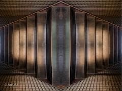 Golden Metal Texture I (ARTUS8) Tags: pastell abstrakt digitallycomposed innenarchitektur flickr linien nikon28300mmf3556 nikond800 treppe