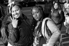 3-3 Candids 3 (TheseusPhoto) Tags: people streetphotography streetportrait street blancoynegro blackandwhite monochrome bnw portrait city citylife sanfrancisco sanfran california girls pose smile