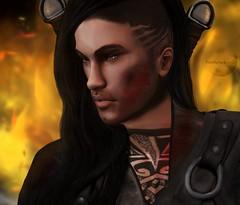 Click It Photography samson***client work-portrait (Twettyna Bowdit) Tags: client warrior blood vampire hunter gdr secondlife avatar men man like