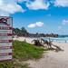 No swimming - Seychelles islands