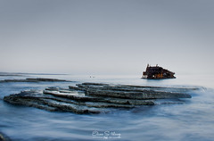 Three stars shipwreck (ESTjustPHOTO - Elias S Tilavgi) Tags: three stars ship shipwreck long exposure seascape sea waves blue hour milky water rocks seaside slow shutter