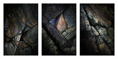 Wales/Anglesey Coast 12th Jan 2018 (Matthew Dartford) Tags: triptych bokeh cliff happisburgh rock snowdonia texture wales