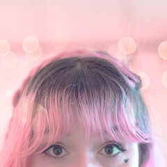 (shinebrightx) Tags: girl colorfulhair pinkhair pastelhair pastelpink bokeh cute hotcocoa cookies hotchocolate