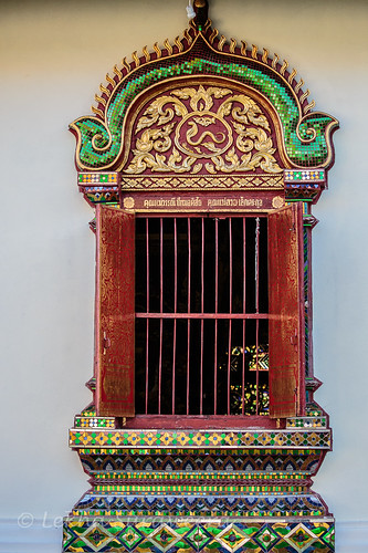 window- of a temple in Chiang Mai, Thailand