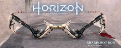 Horizon Zero Dawn Sharpshot Bow (Abathar) Tags: lego videogame moc playstation sony guerrilla horizon zero dawn sharpshot bow aloy scifi thunderjaw arrow string feathers white brown black blue frozen wilds stormbird watchers