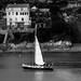 boat sail house bw-0125