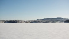 Winter landscape (Bullpics) Tags: view pano panorama nordmarka ski ice snow cold langrenn skiforeningen kikut bjørnsjøen norway oslo d7100 nikon bullpics lake frozen landscape winter forest sky tree