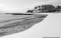 Falmouth Heights Beach (mhoffman1) Tags: capecod casinowharffx falmouth falmouthharbor falmouthheightsbeach sonyalpha a7riii beach blackandwhite monochrome restaurant snow winter massachusetts unitedstates us