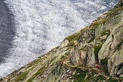 Aletsch Glacier (adamdera) Tags: aletsch glacier switzerland mountains hiking europe alps trail path people ice landscape telephoto handheld canon canonef70300mmf456isusm