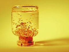 The Reliquary of King Midas (orbed) Tags: sonya99 inabottle macromonday bottle gold yellow macro hmm