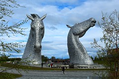The Kelpies in the Helix Falkirk. (Eddie Crutchley) Tags: europe uk scotland falkirk thehelix outdoor park thekelpies art simplysuperb sculpture beauty greatphotographers astoundingimage