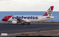 Edelweiss Airbus A320-214 HB-IJV @ Arrecife (Lanzarote) GCRR/ACE (Joshua_Risker) Tags: lanzarote arrecife airport aeropuerto gcrr ace plane planes planespotting aviation avgeek edelweiss swiss airbus a320 a320200 a320214 hbijv