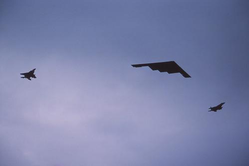 B-2A & F-15 Eagles