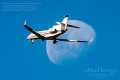 BRENZIL (Pty) Ltd Dassault Falcon 7X Reg. VH-CRW crosses the Waxing Gibbous Moon (81.7%) (ePixel Images) Tags: occultation lunar planemoon moon bizjet dassaultfalcon brenzilptyltd brenzil dassaultfalcon7x vhcrw waxinggibbousmoon brisbane brisbaneairport bne charter privatejet