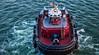 2017 - Regent Cruise - Miami - Moran Tug Boat (Ted's photos - For Me & You) Tags: 2017 cropped miami nikon nikond750 nikonfx regentcruise tedmcgrath tedsphotos vignetting tugboat boat rope water portofmiami flag usaflag ladder steps stairs railing antenna moran morantug morantugboat