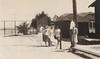 Page 77, no. 1: Tennis gathering (InstaDerek) Tags: balboaisland newportbeach orangecounty california teenagers teens tenniscourt racket houses