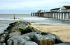Southwold Pier. (johncheckley) Tags: d90 coast pier sea sand rocks groyne