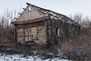 Abandoned village house. (Oleg.A) Tags: wood shadow penzaregion winter nature frost outdoor rural materials villiage snow mikhaylovka colorful interior purple twilight evening architecture orange sunset yellow landscape russia landscapes outdoors penzenskayaoblast ru