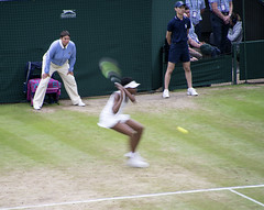 Winning Backhand Down the Line by Venus Williams, Slow Shutter Speed (John Hallam Images) Tags: winning backhand line venus williams slow shutter speed wimbledon venuswilliams